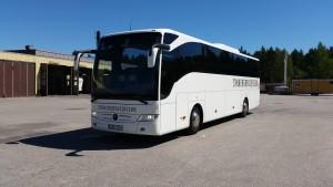 Den nya turistbussen är en Mercedes Turismo. Helturist buss med alla bekvämligheter man behöver som resenär.